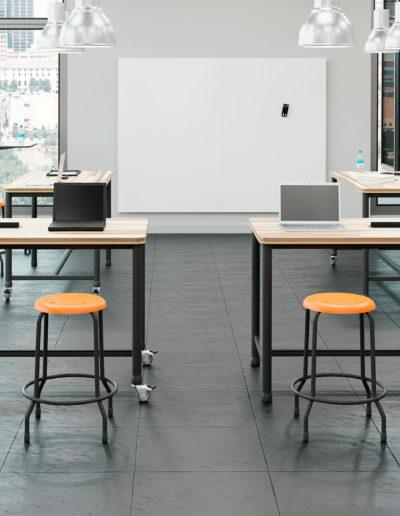Imagem de laboratório com móveis Metadil.