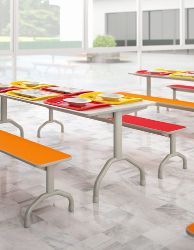Imagem de refeitório com móveis Metadil.