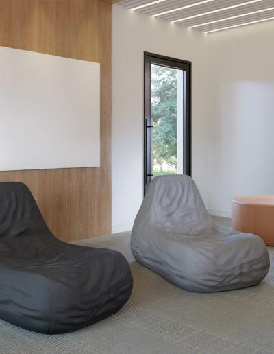 Produtos na imagem: Smuff 5001GL e lousa modular wallvision.